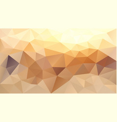 Abstract irregular polygonal background beige vector