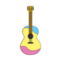 Acoustic guitar play music instrument vector