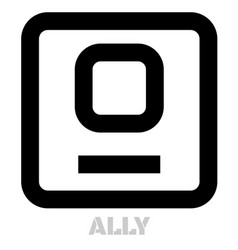 Ally conceptual graphic icon vector