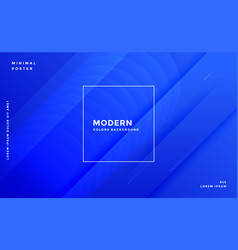 awesome blue modern banner design template vector image