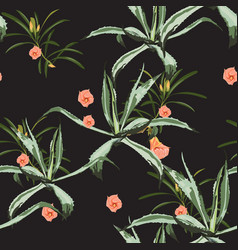 beautiful floral seamless pattern background vector image