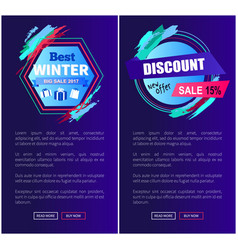 best winter sale set of web vector image