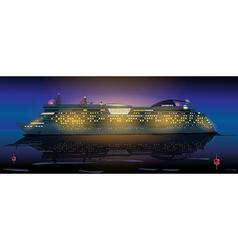 Big cruise ship vector