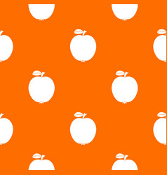 black apple pattern seamless vector image