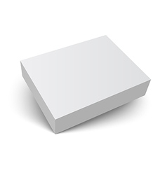 blank packaging box with shadow vector image