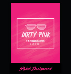 bold pink event flyer poster template vector image