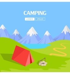 Camping Concept Item vector image