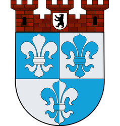 Coat of arms of wilmersdorf in berlin germany vector