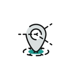 Color line icon for flat design Map tag vector image