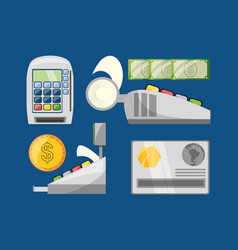 credit card payment shopping concept vector image