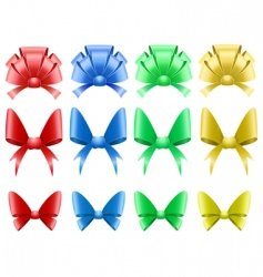decorative bows vector image