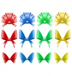 decorative bows vector image