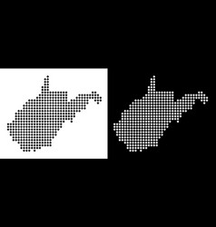 Dotted west virginia state map vector