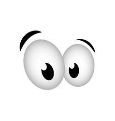 Eye design Cartoon icon White background vector