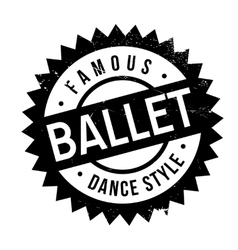 Famous dance style ballet stamp vector
