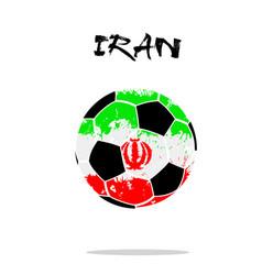 flag of iran as an abstract soccer ball vector image