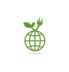 global green power electric logo vector image