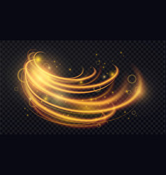 gold luminous abstract light effect luxury vector image