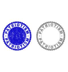 Grunge patriotism textured stamp seals vector