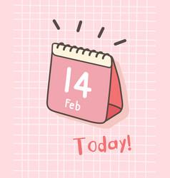 Happy valentines day isometric calendar vector