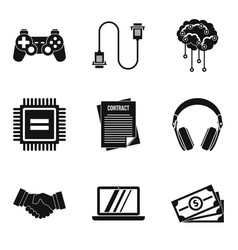 Infotest icons set simple style vector