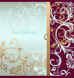 Invitation card or background in luxury style vector