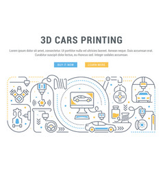 linear banner 3d cars printing vector image