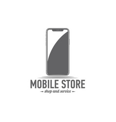 logo isolated smartphone vector image