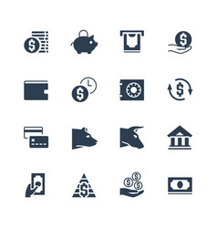 money and finances related icon set vector image