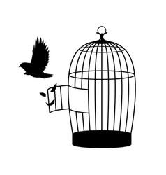 monochrome bird silhouette concept vector image