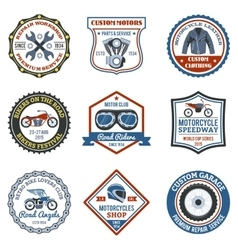 Motorcycle Label Colored vector
