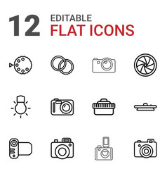 Photographic icons vector