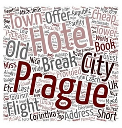 Prague Holidays text background wordcloud concept vector