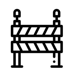 Road barrier icon outline vector