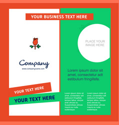 rose company brochure template busienss template vector image