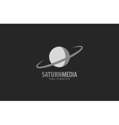 Saturn silhouette isolated vector image