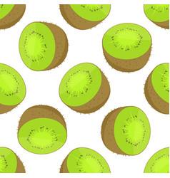 seamless pattern of kiwi vector image