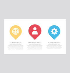 set blue and yellow red elements vector image