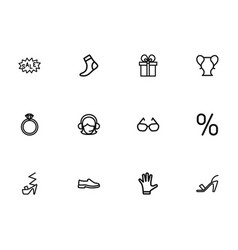 Set of 12 editable business outline icons vector