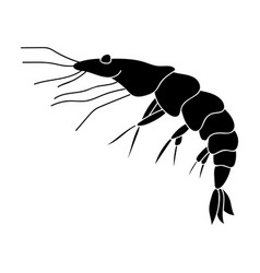Shrimp icon in black style isolated on white vector