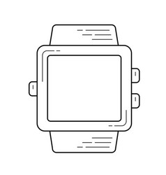 smartwatch device line icon vector image