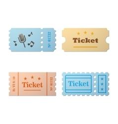Ticket set icon vector