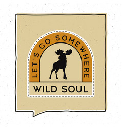 Vintage adventure badge design vector