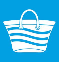 Women beach bag icon white vector