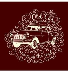 Car T-shirt Design vector image