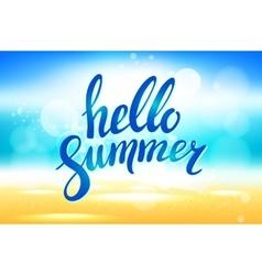 hello summer background Hello summer vector image