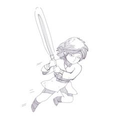 jumping knight character vector image