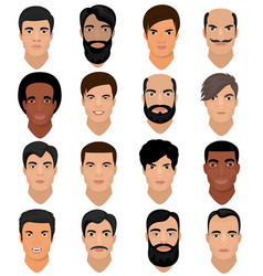 man portrait male character face of boy vector image vector image