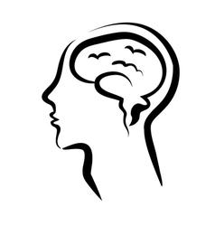 mans head vector image