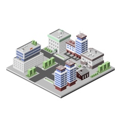 Office buildings isometric vector image vector image